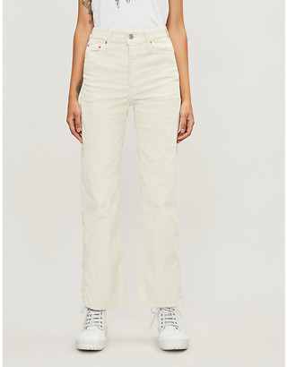 Levi's Ribcage straight high-rise corduroy jeans