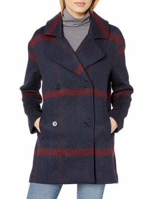 Tommy Hilfiger Women's Double Breased Oversized Wool Coat