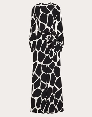 Valentino Printed Cady Jumpsuit Women Ivory/black Silk 100% 38