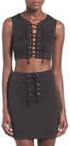 Missguided Lace-Up Cropped Tank
