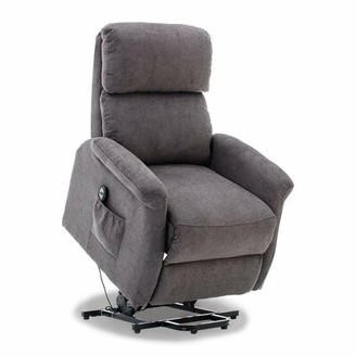 Durkee Lift Classic Power Lift Assist Standard Recliner Red Barrel Studio Upholstery Color: Gray