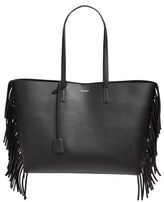 Saint Laurent 'Large Shopping' Fringe Tote - Black