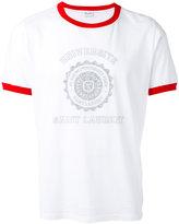 Saint Laurent Université ringer T-shirt - men - Cotton - XS