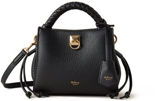 Mulberry Mini Iris Black Heavy Grain