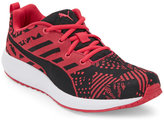 Puma Rose & Black Flare Woven Sneakers