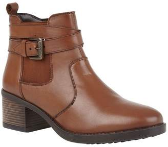 Lotus Footwear Womens Lotus Leather Casual Comfort Ankle Boots - Brown
