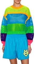 Love Moschino Blocked Mesh Oversized Sweatshirt