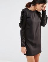 Daisy Street Shift Dress With Frill Sleeves