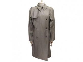 Hermes Grey Wool Trench Coat for Women