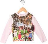 Paul Smith Girls' Long Sleeve Abstract Print Top