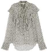 Veronica Beard Finley Printed Silk Chiffon Blouse