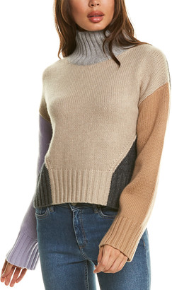 Naadam Cashmere Naadam Chunky Funnel Wool & Cashmere-Blend Sweater
