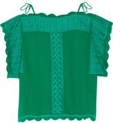 Etoile Isabel Marant Audrina Embroidered Chiffon Top
