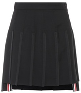 Thom Browne Wool and mohair mini skirt
