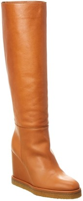 Celine Manon Leather Wedge Boot