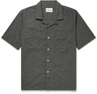 Albam Camp-Collar Printed Cotton-Poplin Shirt