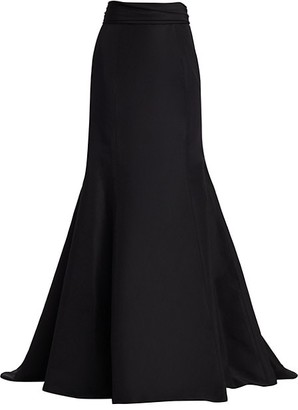 Carolina Herrera Icon Waist-Knot Silk Trumpet Skirt