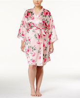Thalia Sodi Plus Size Printed Kimono Wrap Robe, Created for Macy's