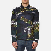 Kenzo Men's Cotton Camo Jacket Midnight Blue