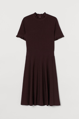 H&M Pleated-skirt Dress - Red