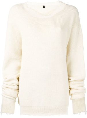 Unravel Project Distressed Cotton Sweater