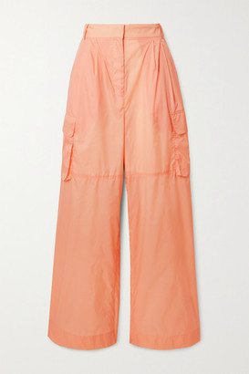 Tibi Shell Wide-leg Pants - Pastel orange