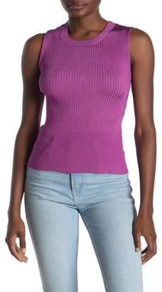 Rachel Roy Carmella Criss-Cross Rib Knit Tank Top