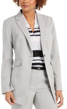 Calvin Klein One-Button Twill Blazer