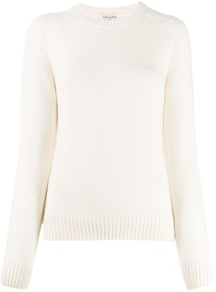 Saint Laurent Relaxed Ribbed Detail Jumper