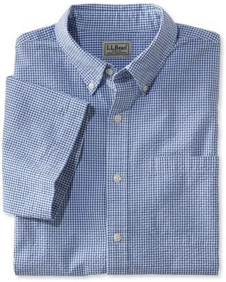 L.L. Bean L.L.Bean Men's Seersucker Shirt, Traditional Fit Short-Sleeve Gingham
