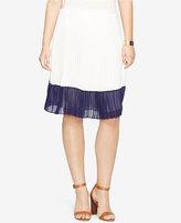 Lauren Ralph Lauren Colorblocked Pleated Skirt