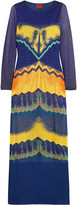 Missoni Paneled crochet-knit maxi dress