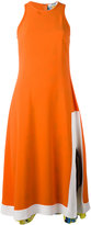 MSGM flared sleeveless dress - women - Silk/Acetate/Viscose - 40