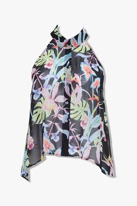 Forever 21 Plus Size Tropical Floral Print Top