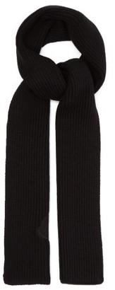 Moncler 2 1952 - Logo-applique Wool Scarf - Mens - Black
