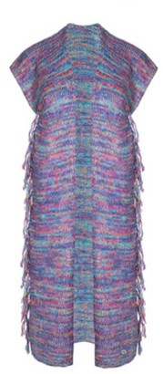 You By Tokarska Frida Fringed Sweater Vest Multicolour Blue
