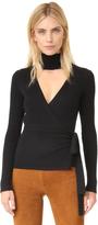 Diane von Furstenberg Ballerina Wrap Turtleneck Sweater