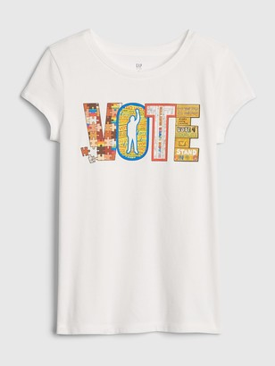 Gap The Collective Kid Girl Vote T-Shirt