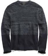 Todd Snyder Textured Color Blocked Sweater in Navy