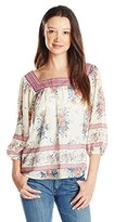 Jolt Women's Printed Georgette with Twin Printed Bands