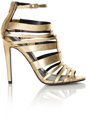 Little Mistress Footwear Gold Multi Strap Heels