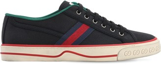 Gucci Vintage Cotton Tennis Sneakers