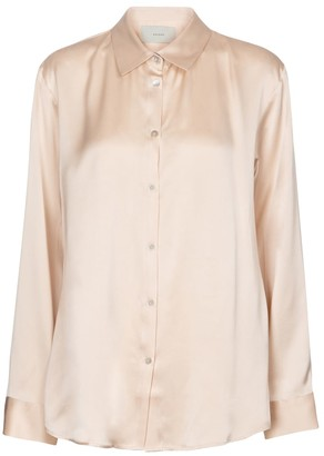ASCENO London silk satin pajama shirt