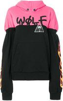 Palm Angels contrast hoodie