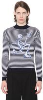 J.W.Anderson Merino Striped Sweater W/ Mercury Man