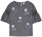 Kenzo Embroidered Wool Blouse