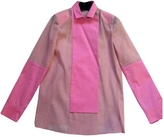 Celine Pink Silk Top