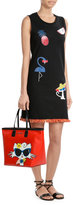 Karl Lagerfeld Choupette on the Beach Printed Cotton Dress