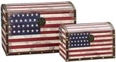 Household Essentials American Flag 2-pc. Storage Trunk Set - Jumbo/Medium