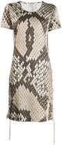 Roberto Cavalli python print dress